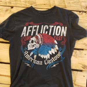 Affliction American Customs Tee Flag Chief